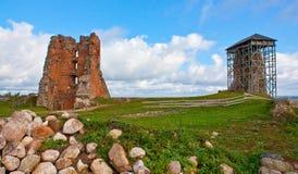 Ruiny stary pałac w Białoruś Obrazy Royalty Free