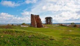 Ruiny stary pałac w Białoruś Zdjęcia Stock