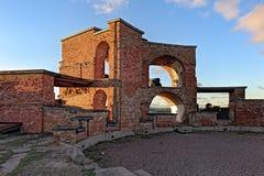 Ruiny Stary Rosyjski Forteczny Notvikstornet blisko Bomarsund, Alan Obrazy Stock