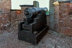 Ruiny Stary Rosyjski Forteczny Notvikstornet blisko Bomarsund, Alan Zdjęcia Royalty Free