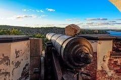 Ruiny Stary Rosyjski Forteczny Notvikstornet blisko Bomarsund, Alan Fotografia Royalty Free