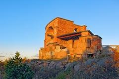 Ruiny Stary Rosyjski Forteczny Notvikstornet blisko Bomarsund, Alan Zdjęcie Stock