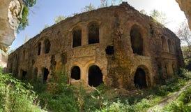 Ruiny Tarakanivskiy fortu fort Dubno, Dubno Nowy kasztel - dla obraz stock