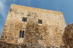 Ruiny Tarragona miasta średniowieczne fortyfikacje Obraz Stock