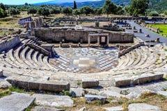 Ruiny teatr w antycznym Messina, Grecja Obraz Royalty Free