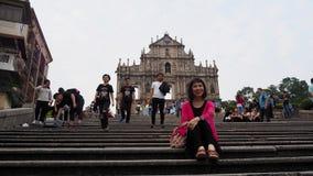 Ruiny ten St Paul Historyczny centrum Macau obraz stock