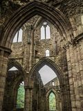 Ruiny Tintern opactwo, poprzedni kościół w Walia Obraz Royalty Free