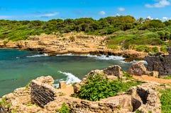 Ruiny Tipasa, Romański colonia w Algieria, afryka pólnocna obrazy stock