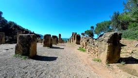 Ruiny Tipasa (Tipaza) Wygłupy miasto był colonia w Romańskich gubernialnych Mauretania Caesariensis loca zbiory wideo