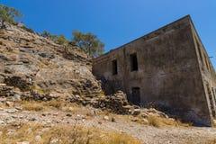Ruiny trędowaty kolonia Spinalonga wyspa Obrazy Royalty Free