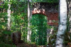 Ruiny Tulmozersky żelaza huta Obrazy Stock