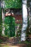 Ruiny Tulmozersky żelaza huta Zdjęcia Stock