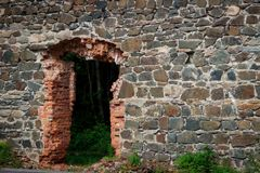 Ruiny Tulmozersky żelaza huta Obrazy Royalty Free