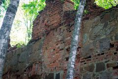 Ruiny Tulmozersky żelaza huta Obraz Stock