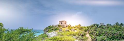 Ruiny Tulum, Jukatan, Meksyk - Obraz Royalty Free