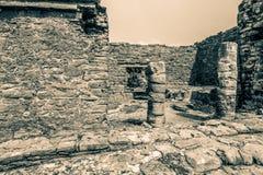 Ruiny Tulum, Jukatan, Meksyk - Zdjęcia Royalty Free