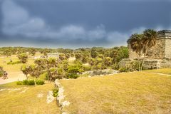 Ruiny Tulum, Jukatan, Meksyk - Fotografia Stock