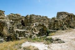 Ruiny w antycznym mieście salami w Famagusta Północny Cypr Zdjęcia Stock