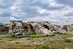 Ruiny w antycznym mieście salami w Famagusta Północny Cypr Fotografia Royalty Free