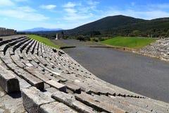 Ruiny w Antycznym mieście Messina, Messinia, Peloponnesus, Grecja Zdjęcia Royalty Free