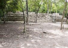 Ruiny w COBA Zona Arqueologica fotografia stock
