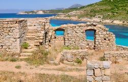 Ruiny w Corsica obrazy royalty free
