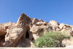 Ruiny w górach Oman Zdjęcia Royalty Free