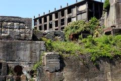Ruiny w Hashima wyspie Zdjęcie Royalty Free