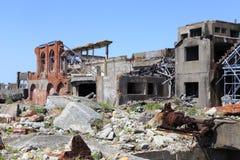 Ruiny w Hashima wyspie Fotografia Stock