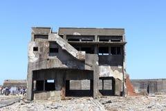 Ruiny w Hashima wyspie Obraz Stock
