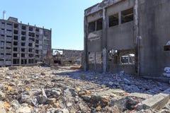 Ruiny w Hashima wyspie Fotografia Royalty Free