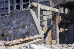 Ruiny w Hashima wyspie Zdjęcia Royalty Free