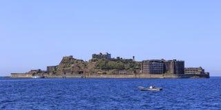 Ruiny w Hashima wyspie Obrazy Stock