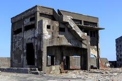 Ruiny w Hashima wyspie Zdjęcie Stock