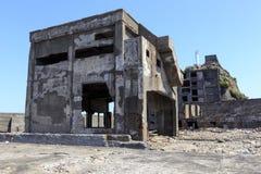 Ruiny w Hashima wyspie Obrazy Royalty Free