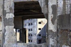 Ruiny w Hashima wyspie Obraz Royalty Free