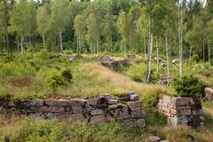 Ruiny w Marieholm - Szwecja Obrazy Stock