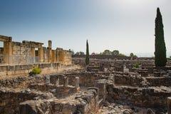 Ruiny w miasteczku Capernaum obraz stock