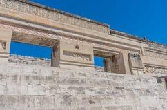 Ruiny w Mitla blisko Oaxaca miasta Zapotec kultury centrum w Meksyk obrazy stock
