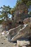 Ruiny w Phaselis Obrazy Stock