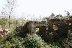 Ruiny w Starej wiosce Nowy Milulou fotografia stock