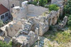 Ruiny w starym miasteczku Dubrovnik Chorwacja fotografia royalty free