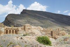 Ruiny w Tanuf Oman obrazy royalty free