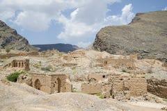 Ruiny w Tanuf Oman obrazy stock