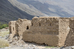 Ruiny w Tanuf Oman zdjęcia stock