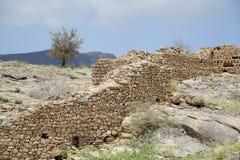 Ruiny w Tanuf Oman zdjęcia royalty free