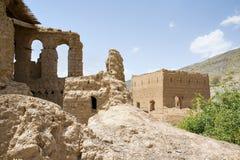 Ruiny w Tanuf Oman fotografia royalty free
