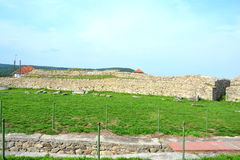 Ruiny w Ulpia Traiana Augusta Dacica Sarmizegetusa Fotografia Stock