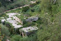 Ruiny i rzeka Obrazy Royalty Free