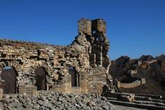 Ruiny wierza w wielkim murze Chiny Obraz Royalty Free